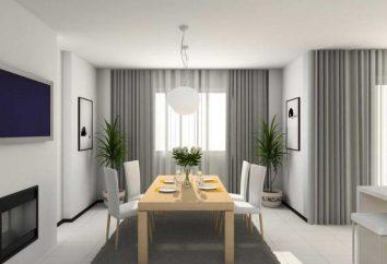 Tipos de barras de la cortina para cortinas: versiones montados en la pared. foto