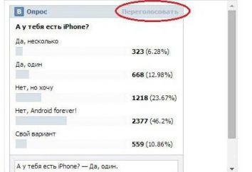 """Wie peregolosovat in der Umfrage, """"VKontakte"""": Erklärung"""