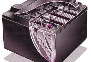 batteries acide: capacité unitaire. Chargeur pour batteries d'acide. Restauration des batteries d'acide