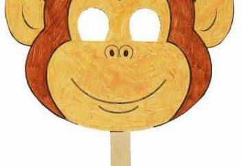 máscara del mono con las manos. Creamos con niños