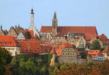 Rothenburg ob der Tauber Atrações ea localização no mapa da Alemanha
