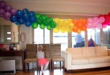 Kolorowe girlandy balony doda świąteczny wnętrze