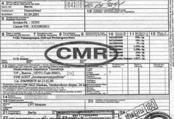 CMR-waybill: remplir l'échantillon. Connaissements de la norme internationale