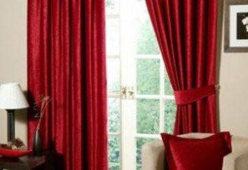 Rideaux à la cuisine avec la porte du balcon: motifs et photos