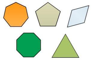 polígono regular. El número de lados de un polígono regular