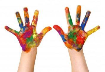 Palec maluje dla dzieci poniżej jednego roku: staramy się wyciągnąć