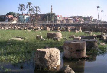 A primeira capital do reino egípcio é a cidade de Memphis
