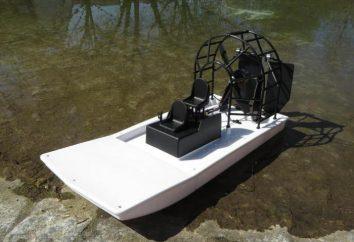 Airboat z rękami w radiu