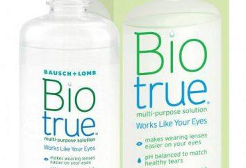 lentes de solución Biotrue: instrucción y retroalimentación