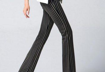 Z czym nosić proste damskie spodnie?
