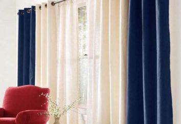doubles rideaux dans la chambre à coucher, le salon. Idées décoration de fenêtre