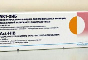 """""""ACT-HIB"""" (szczepionka): instrukcje użytkowania. Szczepionki przeciwko zakażeniom Hib"""