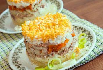 Faire une salade avec des œufs et Saury « Mimosa » de différentes façons