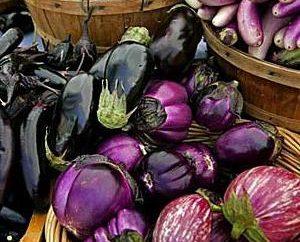 Kalorien- und Auberginen Gerichte sind