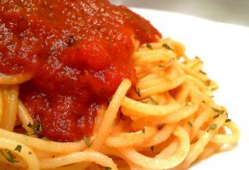 molho de espaguete de tomate: diferentes opções de culinária