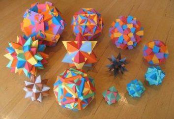 Wie man ein Polyeder aus Papier macht. Polyeder aus Papier – Schemata