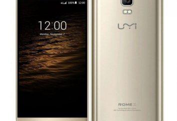 Smartphone UMI Rome X: avis des propriétaires, les caractéristiques et les caractéristiques