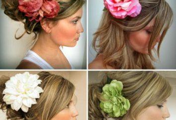 Fryzura z kwiatem – trend mody