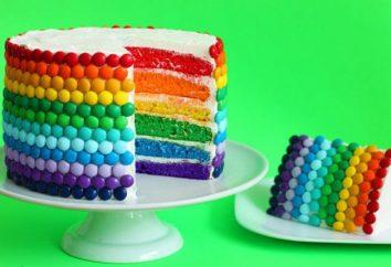 Arcobaleno torta: ricetta con una foto