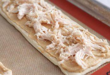 gâteau de couche de pâte feuilletée de poulet: photos de recette