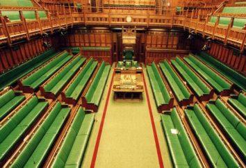 La Camera dei Comuni della Gran Bretagna: l'ordine di formazione, composizione