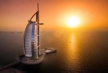 """L'hôtel """"Burj Al Arab"""" (Burj Al Arab 5 *): hauteur, note de service"""
