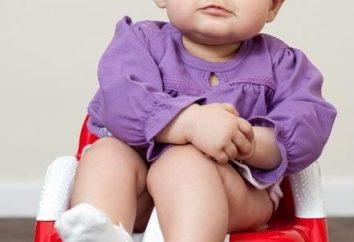 Dziecko siedzi w toalecie, gdy dziecko wyrosło