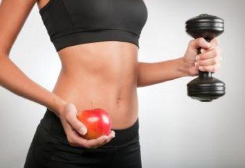 corps de séchage Sport: dans le menu tous les jours et les règles de la nutrition pour les femmes