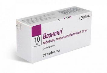 """Lek """"Vasilip"""". Instrukcje użytkowania"""