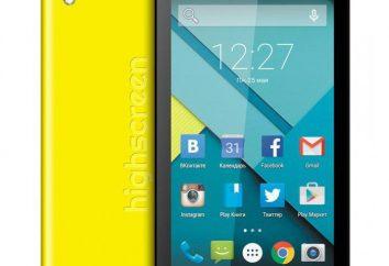 Visão geral do smartphone Highscreen Pure F: descrição, características e opiniões