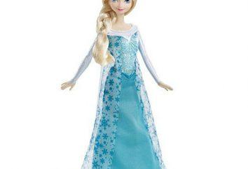 """Popularny wśród młodych Princesses lalek: Elsa """"zimnego serca"""""""