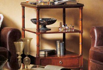 Obsługujących stół na kółkach: rodzajów i opisach