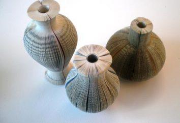 """Vaso de papel com as mãos. Como fazer origami """"vaso feito de papel"""""""