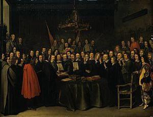 Unter den Bedingungen des Westfälischen Frieden Spanien erkannte die Unabhängigkeit von Holland. Die Bedingungen des Westfälischen Frieden. 30-jährigen Krieg (1618-1648)
