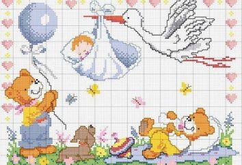 La métrica para los recién nacidos: Esquema de bordado. ¿Cómo métricas bordado para los recién nacidos?