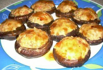 Faszerowane pieczarki w piekarniku z serem i mięsem mielonym