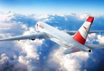 """La aerolínea """"Austrian Airlines"""": vista general, descripción de los servicios y las revisiones"""
