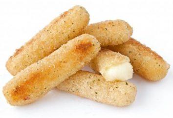 paluszki ziemniaczane z serem, smażone na patelni
