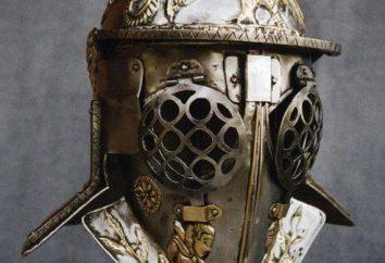 Capacetes gladiadores: descrição, fotos
