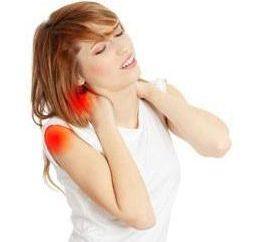 Ostry ból w ramieniu i szyi jest mowa?