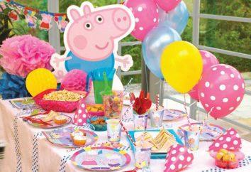 Urodziny w stylu świń Peppa: scenariusz i układ