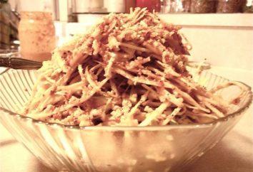 Une belle et savoureuse salade pour la table de fête, une recette pour la cuisine