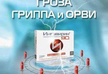 """A droga """"Ingavirin"""". Comentários profissionais e pacientes. instrução"""