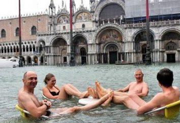 Inundações em Veneza. O elemento não poupar a cidade