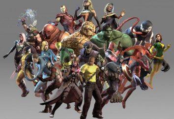 """Postacie """"Marvel"""": najbardziej znany i najbardziej pożądane"""