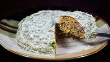 Préparation d'un gâteau hépatique: une recette pour une table de nouvelle année