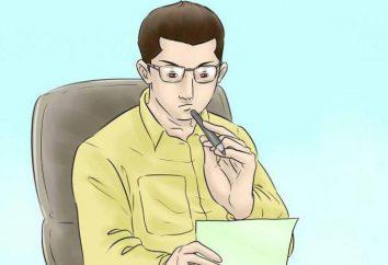 Dyrektor wyjaśniająca: próbka, zwłaszcza pisanie i zalecenia