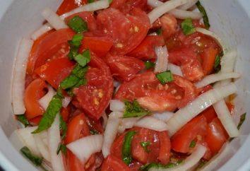 Tranches de tomates pour l'hiver: différentes recettes bien-aimés blanc