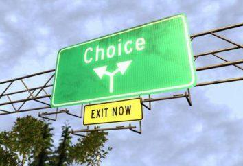 La liberté de choix est … Liberté de choix: exemples