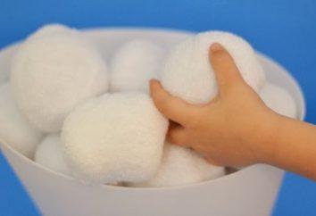 Wie machen Schneebälle aus Wolle mit ihren eigenen Händen
